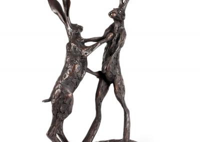 Paul Jenkins bronze - fighting hares