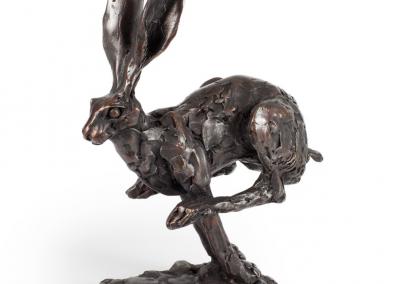 Paul Jenkins bronze - leaping hare