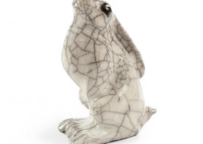Paul Jenkins raku ceramic hare 02