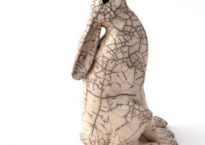 Paul Jenkins raku ceramic hare 04