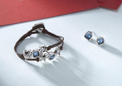 Toro Azul (bracelet) with La Jojoya (earrings)