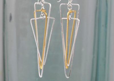 Christin ranger Triangular Shaped Drop Earrings