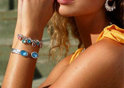 Tesoro (bracelet) with Orion (bangle)