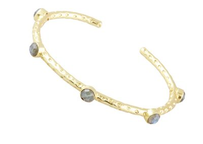 Ashiana Jewellery - Cruise Five Gemstone Bangle in Labradorite - Fizz Collection