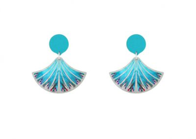 Pixalum - Feather Blue Earrings - Fizz Collection