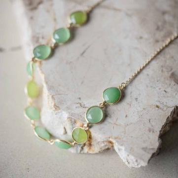 Shan Shan - Ellip Necklace Green - Fizz Gallery