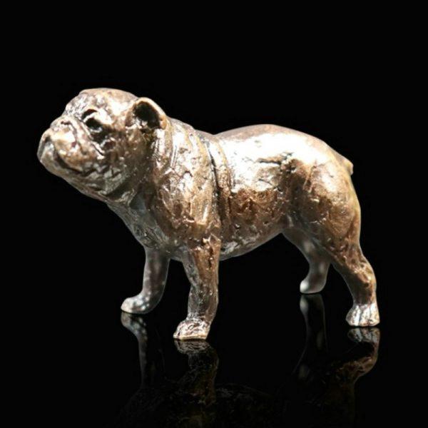 butler & peach minature bronze english bulldog standing