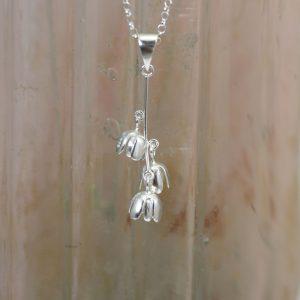 christin ranger silver bluebell flowers pendant