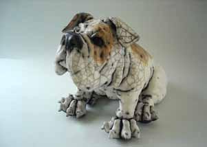 large sitting bulldog