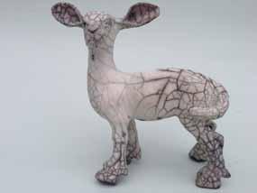 ceramic lamb standing