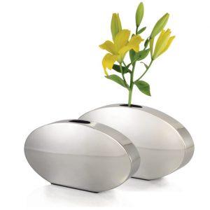 stainless steel vase oval