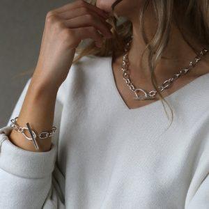 tutti & co silver link bracelet