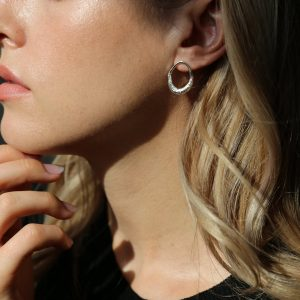 tutti & co open hoop earrings