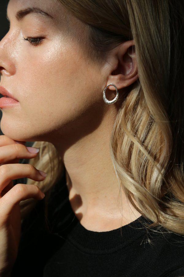 tutti & co open hoop earrings