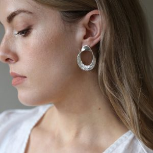 tutti and co silver twist hoop earrings