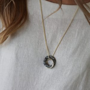 tutti & co stone with gold pendant