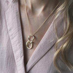 tutti & co double drop gold pendant